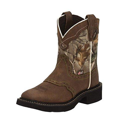 Justin Junior Gypsy Sq Toe Real Tree Camo Boots 9.