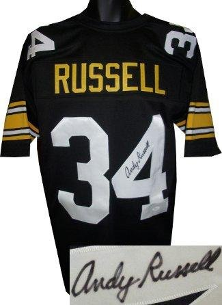 bfbc4363b Signed Andy Russell Jersey - Black TB Custom Stitched Pro Style XL Hologram  - JSA Certified