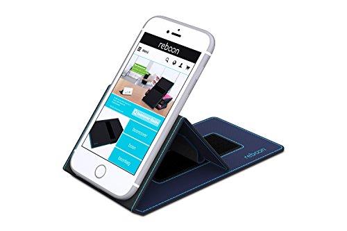 Funda para Meizu M6s en Cuero Negro - Innovadora Funda 4 en 1-Anti-Gravedad para Montaje en Pared, Soporte de Tableta en Vehículos, Soporte de Tableta - Protector Anti-Golpes para Coches y Paredes sin Azul