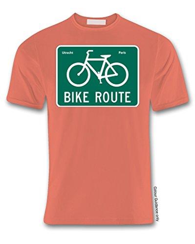 manga Ciclismo hombre Camiseta naranja 360 corta wnznCtZqO