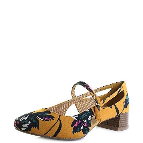 Riemchen Schuhe Iris Pumps Shoo Florale Damen Vintage Ruby xpqzwY1g