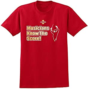Music Notation Musicians Score - Red Rot T Shirt Größe 87cm 36in Small...