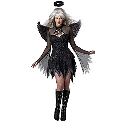 BITUBITU - Disfraz Sexy de ángel caído para Mujer, Disfraces ...