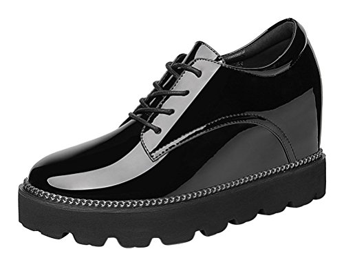 For Slender Man For Costume Kids Sale (Passionow Women's Fashion Lace-Up Platform Slip-Resistant High Increase within Walking Oxford Shoes (7.5)