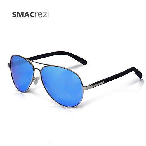 Aviator Sunglasses, Oversized Aviator Sunglasses SMACrezi Non Polarized Sunglasses UV400 Protection Blue Revo Sunglasses for Vocation Beach Travelling Walking Driving and - Pilots Polarized Non For Sunglasses