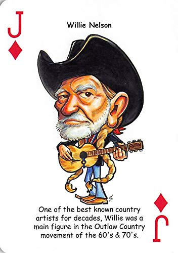 Willie Nelson trading card (Country Music Legend) 2017 Hero Decks Tribute to Country #J