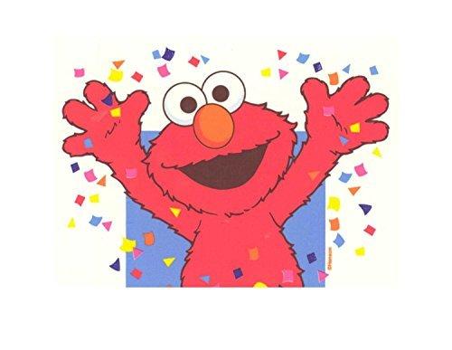 Elmo Celebration Sesame Street Edible Image Photo 1/4 Quarter Sheet Cake Topper Personalized Custom Customized Birthday Party ()