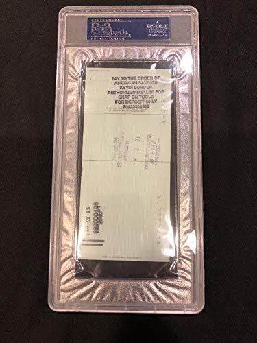 Reggie Jackson Hof Autographed Signed Slabbed Personal Check PSA/DNA Authentic 723