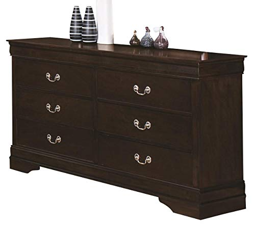 - Coaster Home Furnishings Louis Philippe 6-Drawer Dresser Cappuccino