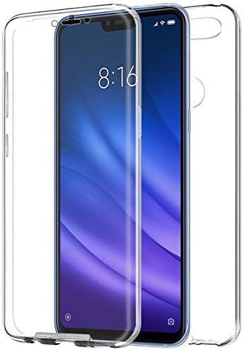 iGlobalmarket Funda para Xiaomi Mi8 Lite - Carcasa Completa [360] de [Silicona] para móvil - (Transparente Frontal + Trasera)