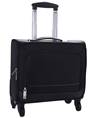Rolling Laptop Case, COOFIT Nylon Rolling Laptop Briefcase Roller Laptop Bag Carry-on Luggage