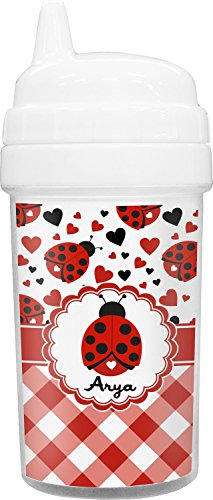 Ladybugs & Gingham Toddler Sippy Cup - Always Why Ne