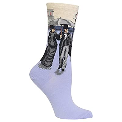 Hot Sox Womens Caillebottes Paris Street; Rainy Day Crew Socks at Women's Clothing store