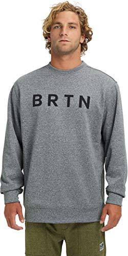 Burton Men's Oak Crew Sweatshirt, Gray Heather SS19, Large