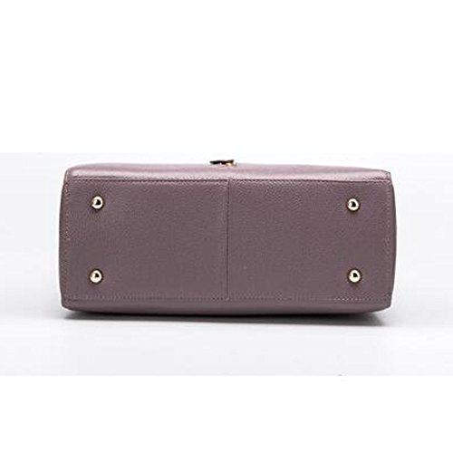 Large Purple Handle Women's Top Totes Capacity Leather Bag Vintage Shoulder Handbags nxOw10qZ