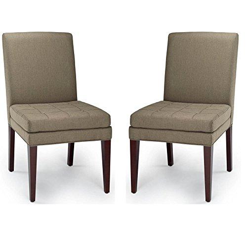 Edward Club Chair (Safavieh Hudson Collection Edward Stone Side Chairs, Sage, Set of 2)