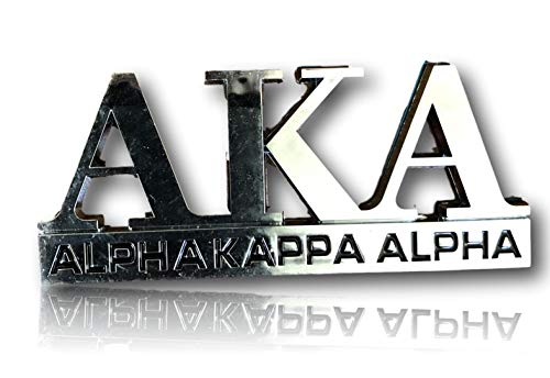 (Alpha Kappa Alpha Car Decal Tag)
