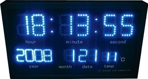 HOUSE USE PRODUCTS(ハウスユーズプロダクツ) LED 時計 OPTIM ブルー ACL113 [正規代理店品] B003DAOEHE ブルー ブルー