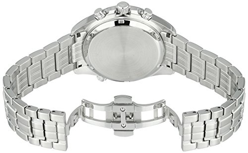 Bulova Men's Quartz Stainless Steel Casual Watch, Color:Silver-Toned (Model: 96B260) by Bulova (Image #3)