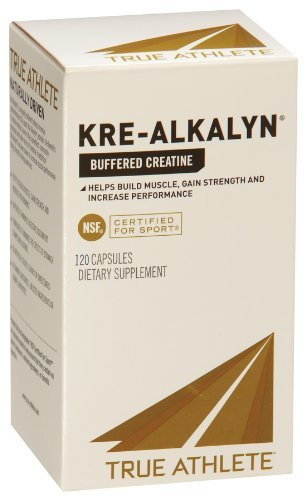 True Athlete Kre Alkalyn 1,500mg Helps Build Muscle, Gain Strength Increase Performance, Buffered Creatine NSF Certified for Sport 120 Capsules