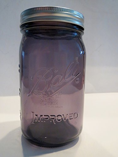 Ball Mason Jar-32 oz. Purple Glass Ball Heritage Collection