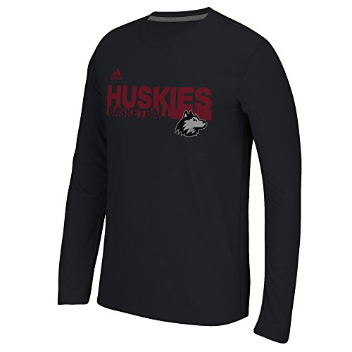 NCAA Northern Illinois Huskies Men's Sideline Grind Climalite Ultimate Long Sleeve Tee, Medium, Black