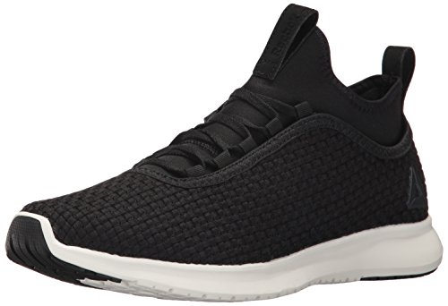 Reebok Men's Plus Runner Woven Running Shoe, Black/Chalk, 11.5 M US