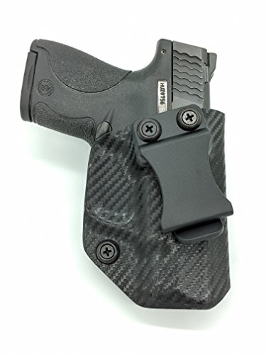 Fast Draw USA - Compatible with Smith & Wesson M&P Shield IWB Kydex Holster Inside Waistband Concealed Carry Holster Made in USA (Carbon Fiber - Right - Shield Carbon