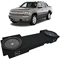 Fits 2002-2013 Chevy Avalanche Underseat Kicker CompR CWR12 Dual 12 Sub Box Enclosure New - Final 2 Ohm
