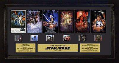 Filmcells Star Wars Through The Ages Six films Framed Art