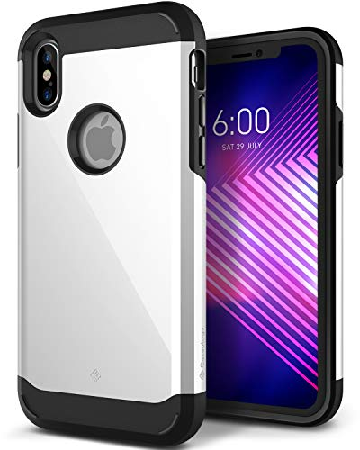 Caseology-for-iPhone-X-Case-Legion-Series-Slim-Heavy-Duty-Protective-Armor-Dual-Layer-Tough-Design-Case-for-iPhone-X-2017-Only-White