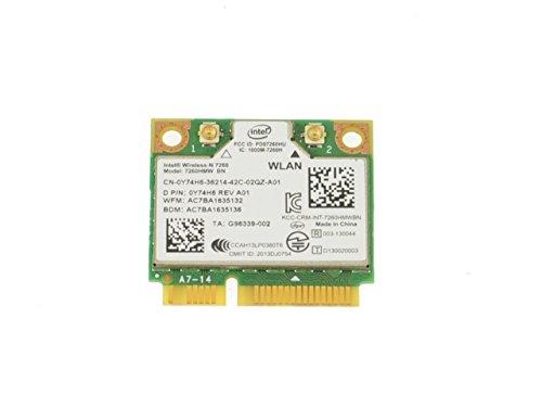 WiFi Card Intel Wireless-N 7260 Mini PCI-E 300 Mbps; 802.11 b//g//n Internal; Mini Bluetooth 4.0 Inspiron 15 7537 Y74H6