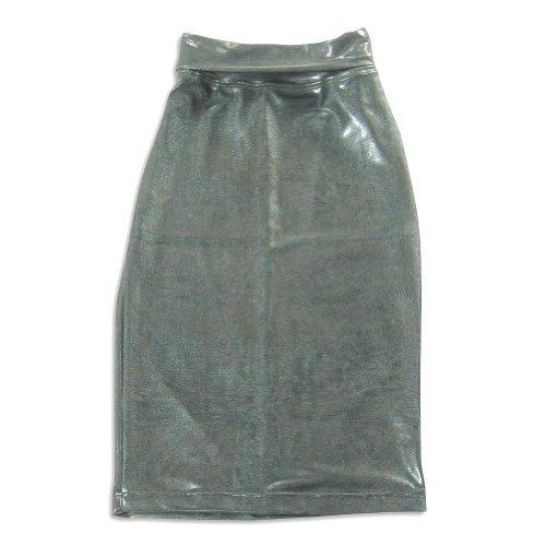 So Nikki - Big Girls' Pleather Skirt, Black 22360-10/12