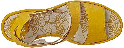 Fly London P500526004, Sandalias de Cuñas Mujer Amarillo (Lemon 022)