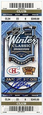 Montreal Canadiens Tickets (Brendan Gallagher Montreal Canadiens Signed Autographed Winter Classic Ticket)