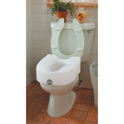Ableware 725753101 Bath Safe Lock On Elevated Toilet Seat by Maddak Inc.