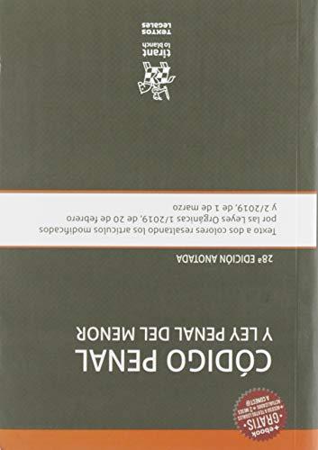 Código Penal y Ley Penal Del Menor 28ª Edición anotada 2019 (Textos Legales) por Francisco Javier Álvarez García