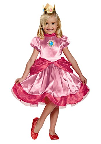 Nintendo Super Mario Brothers Princess Peach Girls Toddler Costume, Medium/3T-4T -