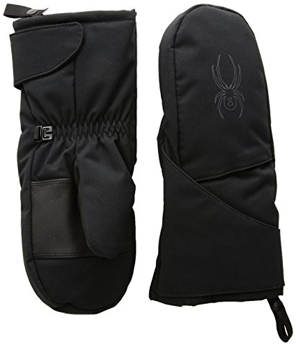 Spyder Kids Glove - Spyder Mini Cubby Ski Mitten, Black/Polar, Small