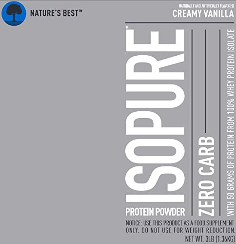 Isopure Zero Carb Protein Powder, 100% Whey Protein Isolate, Keto Friendly, Flavor: Creamy Vanilla, 3 Pounds