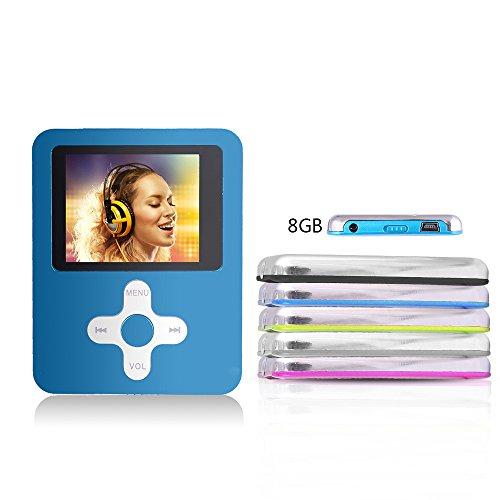 Btopllc MP3-Player,MP4 Player 8GB Karte,MP3 tragbarer Musik-Player,Video Player USB,MP3/MP4 Digitaler Musik Player Klassisch wiederaufladbar/Media Player/Video/Audio Player/Multimedia Player - blau