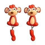 3D Animal Cartoon Biting Ears Stud Earrings ,Lovely