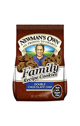 Newman's Own Family Recipe Cookies, Double Chocolate Chip, 7-Ounce Bags (Pack of 6)