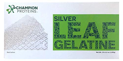 - Silver Leaf Gelatin Sheets, 400 Sheets, 170 Bloom, Champion Leaf Gelatine, 1/KG (2.2/Lbs)