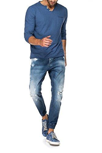 Salsa - Jeans Erik 1st Level avec déchirures et usures - Homme