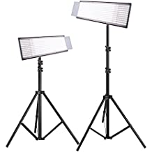 Pergear Lightmate Pro CRI 96+ Bi-color Dimmable Ultra-thin Ultra-light 1440 Led Photography Studio Video Light Panel with 2m/6.5ft Light Stand - 2 Set