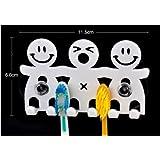 2 Stück niedlich lächelnden Gesicht Cartoon Zahnbürstenhalter, Zahnbürste stand