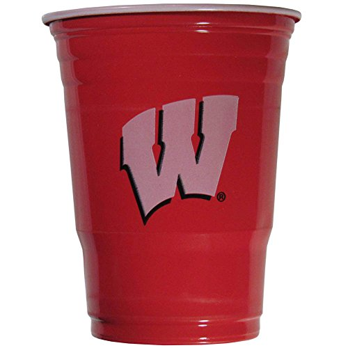 (Siskiyou NCAA Wisconsin Badgers Plastic Game Day Cups 2 Sleeves of 18 (36 Cups))