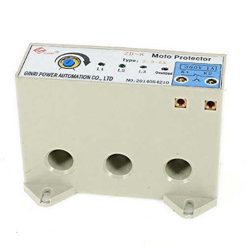 DealMux ZD-8 3 Phase 2.5-5 Ampere Adjustable Current Motor Circuit Protector