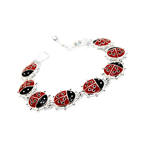 Hope Collection Joji Boutique: Enameled Ladybug Charm Bracelet with Magnetic -
